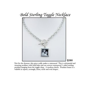 Bold Sterling Toggle Necklace