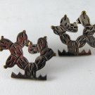 MEXICAN STERLING SILVER LATON PIERCED CACTUS EARRINGS