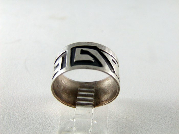 VINTAGE MEXICAN MEXICO STERLING SILVER BAND RING SIZE 6 1/2