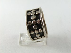 VINTAGE MEXICAN STERLING SILVER BAND RING SIZE 11 1/4