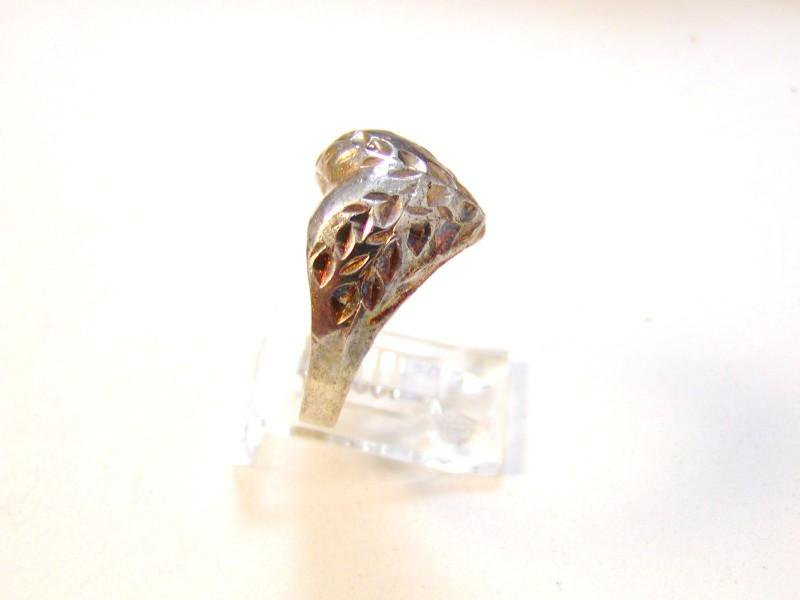 Vintage Sterling Silver Heart Ring Size 9 1/4