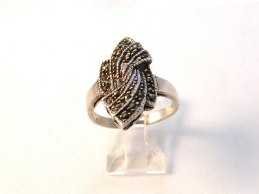 Vintage Sterling Silver & Marcasites Ring Size 8 1/4