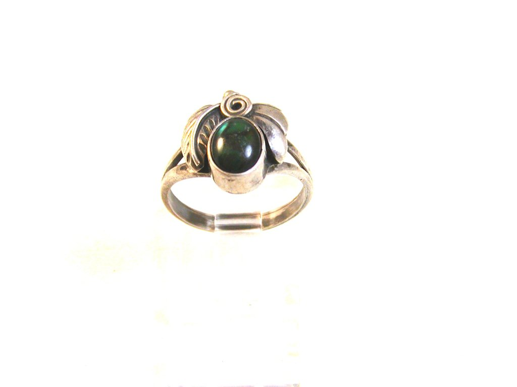 Vintage Native American Sterling Silver & Abalone Ring Size 6 1/2