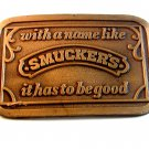 Vintage with a name like Smuckers Belt Buckle U.S.A.