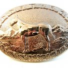 Vintage Horse Western Cowboy Belt Buckle Made in U.S.A. by Chambers