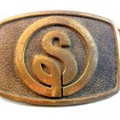 Vintage S in a Circle Belt Buckle