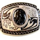 New Old Stock Western Silver Tone & Stone ? Belt Buckle Made in USA