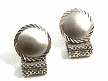 1970's True Vintage Silvertone Wrap Around Cufflinks Unmarked 102414