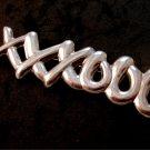 Vintage Sterling Silver Xs & Os Hugs Kisses Brooch