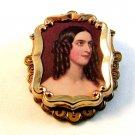 Vintage Portrait of 19th Century Lady Brooch