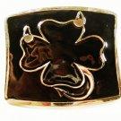 Black Four 4 Leaf Clover Belt Buckle By Lucky Devil Designs 72815