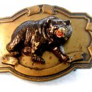 Vintage Gold Tone 3 Dimensional Grizzly Bear Belt Buckle