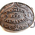 Vintage The Old Farmers Almanac Est. 1792 Belt Buckle