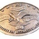Vintage 1986 NRA Institute for Legislative Action Belt Buckle