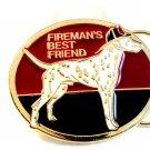 Vintage Fireman's Best Friend Enameled Belt Buckle