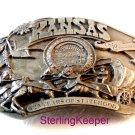 Vintage 1986 Siskiyou Kansas 125 Years of Statehood Belt Buckle