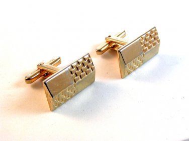 Vintage 1950's - 1960's Gold Tone Cufflinks by Hickok U.S.A.