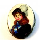 Vintage Portrait of a Lady Brooch