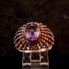 Sterling Silver & Amythest Ring Size 10