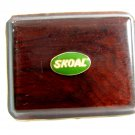 Vintage Wood Skoal Chewing Tobacco Belt Buckle
