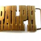 Vintage Solid Brass Ralph Belt Buckle