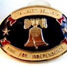 Vintage 1776 - 1976 Liberty Bell Ring for Independence Belt Buckle