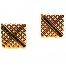 Vintage Goldtone & Blue Cufflinks Unbranded 6 30 15