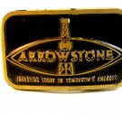 Vintage 1970 - 80's Arrowstone Oil Wells Brass Belt Buckle