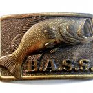 Vintage B.A.S.S. Bass Anglers Sportsmans Society Belt Buckle