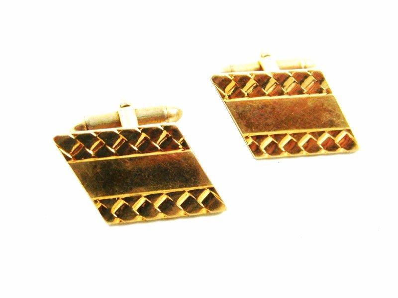 1960's - 80's True Vintage Goldtone 10K RGP Cufflinks by Hadley USA 101014