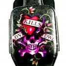 Ed Hardy Skull Love Kills Slowly Phone Case Never Used 7214