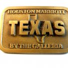 Vintage Houston Texas Marriott By The Galleria Belt Buckle U.S.A.