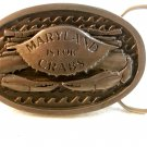 1990 Maryland is for Crabs Belt Buckle