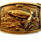 Vintage 1978 John T. Judd Fish Belt Buckle