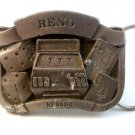 Vintage Reno Nevada 777 Slot Machine Belt Buckle Made in U.S.A.