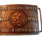 Vintage S.P.O. Quality Circles Problem Solver Teams Kerr McGee Belt Buckle