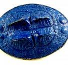 Western Blue Alligator Leather Belt Buckle 5714 Not Signed