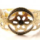 Unusual Vintage Filigree Sterling Silver Cuff Bracelet