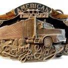 1989 Siskiyou American Trucker Bound for Glory Belt Buckle