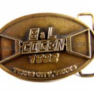 1992 S & L ( Sterling & Linde ) Cogen Texas City Texas Belt Buckle by CD Hit 511