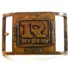 Vintage Ryder Safe Driver Award Belt Buckle