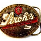 Vintage 1985 Stroh's Beer Enameled Belt Buckle Made in U.S.A.