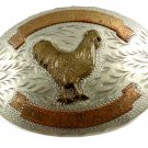 Vintage Trent Stock Show Showmanship Cock Rooster Belt Buckle by ADM 11042013