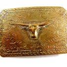 Vintage  Cowboy Western Longhorn Belt Buckle