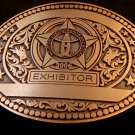 Brand New 2006 Houston Livestock & Rodeo Show Exhibitors Belt Buckle 72714