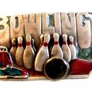Vintage 1985 Siskiyou Bowling Enameled Belt Buckle