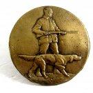 1950's - 1970's Hunter W/ Rifle Bird Dog Hunting Belt Buckle 092214