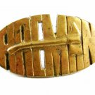 1970's - 1980's Firemans Ax Axe Solid Brass Belt Buckle 81914