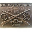 Vintage NRA Whittington Center Hawkins Plains Shooting for our Future Belt Buckl