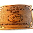 Vintage Mobile Synthetic Rutile Plant Kerr McGee KM Belt Buckle